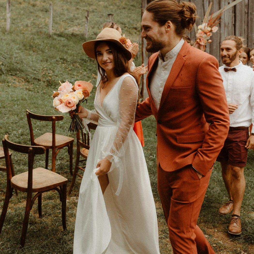 Mariage intimiste dans les Alpes